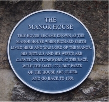 Blue Plaque on Manor House